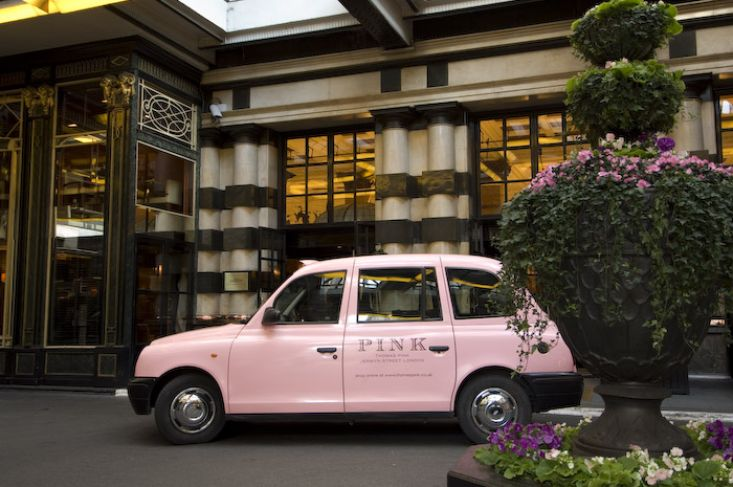 2006 Ubiquitous taxi advertising campaign for Thomas Pink - PINK