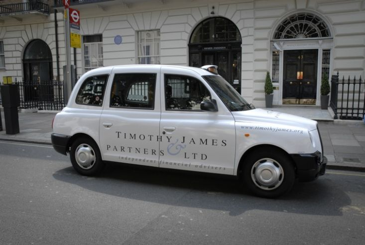 2008 Ubiquitous taxi advertising campaign for Timothy James & Partners - Independent Financial Advisors