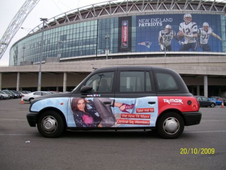 2008 Ubiquitous taxi advertising campaign for TK Maxxx - Wembley Store