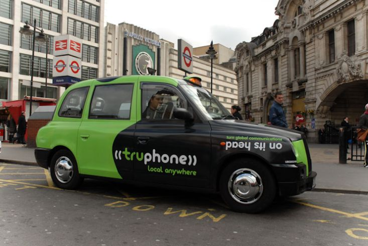 2010 Ubiquitous taxi advertising campaign for Truphone - Local Anywhere