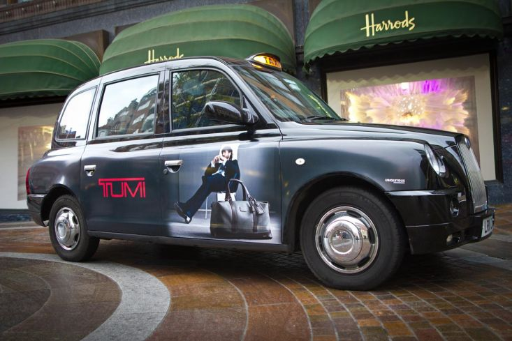 2011 Ubiquitous taxi advertising campaign for Tumi - Tumi