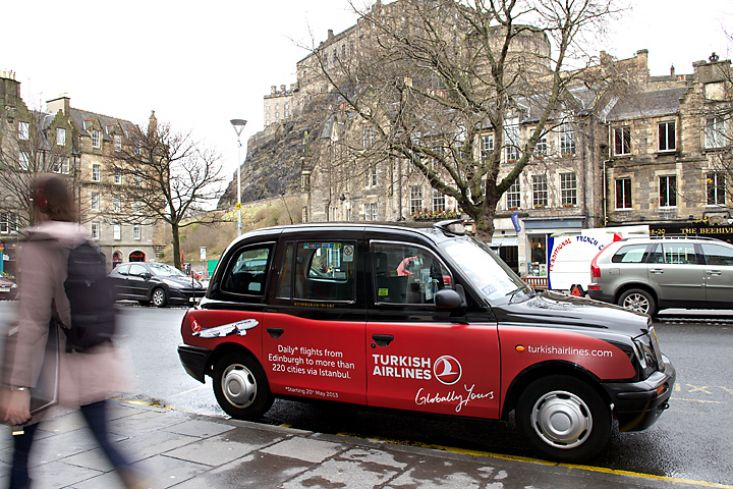 2013 Ubiquitous taxi advertising campaign for Turkish Airlines - Globally Yours
