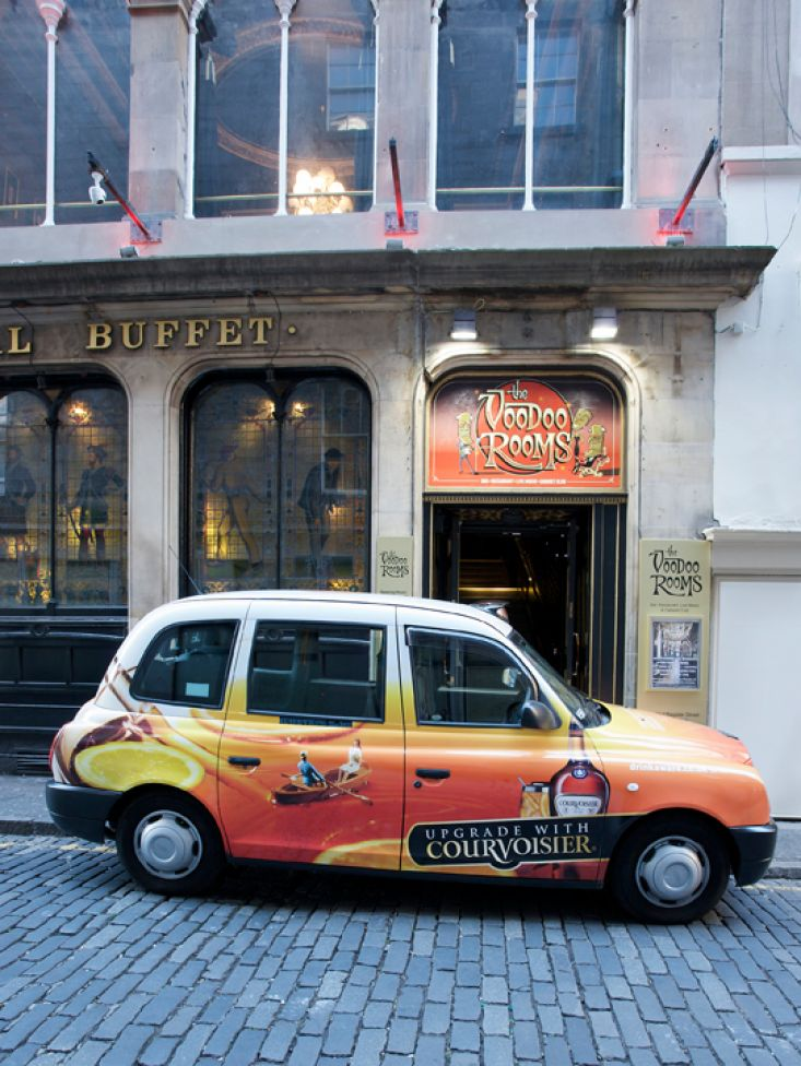 2011 Ubiquitous taxi advertising campaign for Courvoisier - Upgrade with Courvoisier
