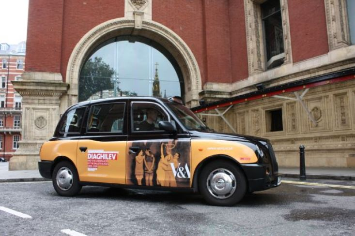 2010 Ubiquitous taxi advertising campaign for Victoria and Albert Museum - Diaghilev