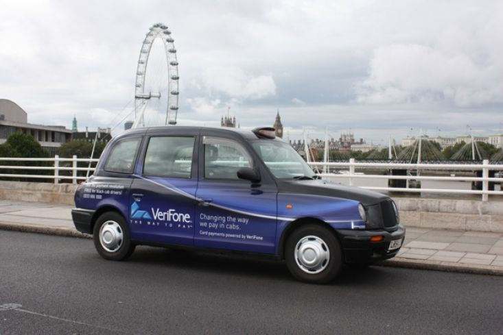 2010 Ubiquitous taxi advertising campaign for Verifone - Changing the Way We Pay In Cabs