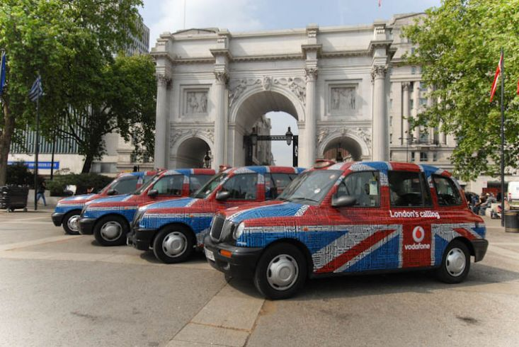 2011 Ubiquitous taxi advertising campaign for Vodafone - London's Calling