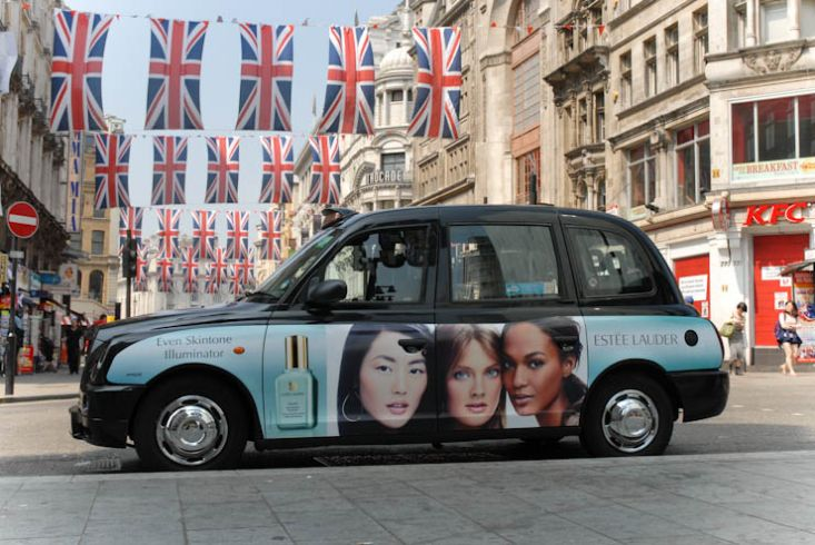 2012 Ubiquitous taxi advertising campaign for Estee Lauder - Even Skin Illuminator