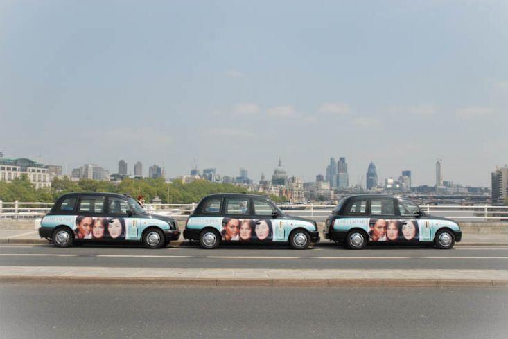 2012 Ubiquitous taxi advertising campaign for Estee Lauder - Even Skin Illuminator