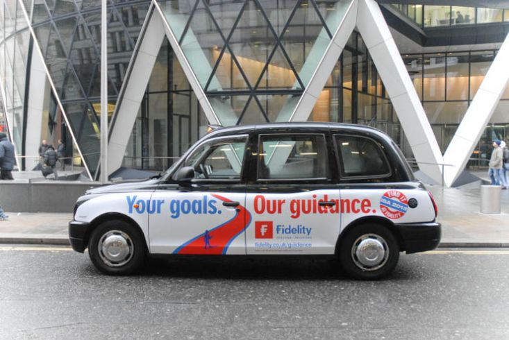 2013 Ubiquitous taxi advertising campaign for Fidelity - Your Goals. Our Guidance.
