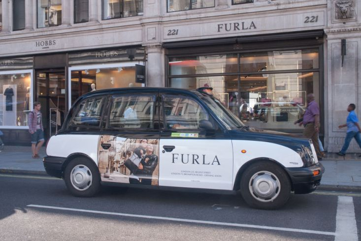 2016 Ubiquitous campaign for Furla - London 221, Regent Street London 71, Brompton Road - Opening Soon