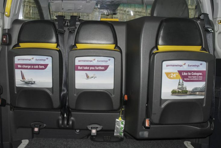 2015 Ubiquitous campaign for Germanwings - Germany - just a cab fare away!