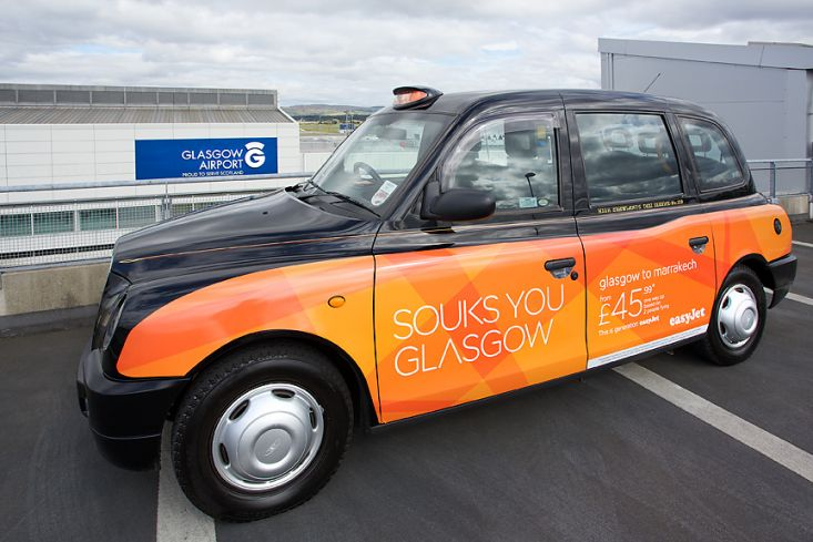 2014 Ubiquitous campaign for Glasgow Airport - Easy-Jet