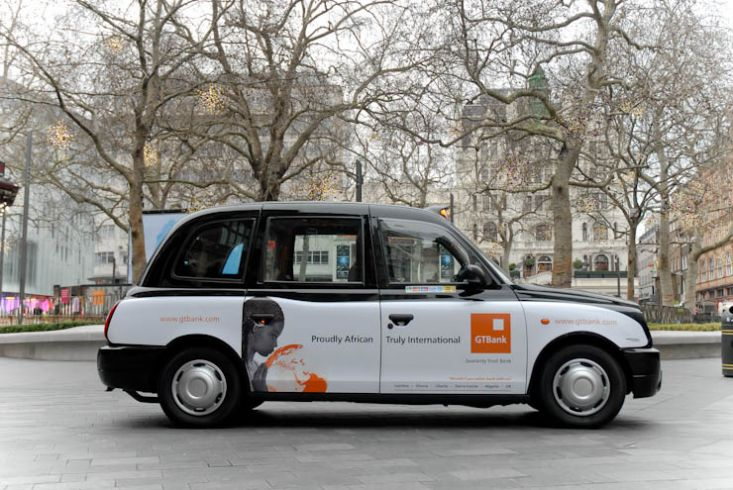 2012 Ubiquitous taxi advertising campaign for GT Bank - Proudly African; Truly International