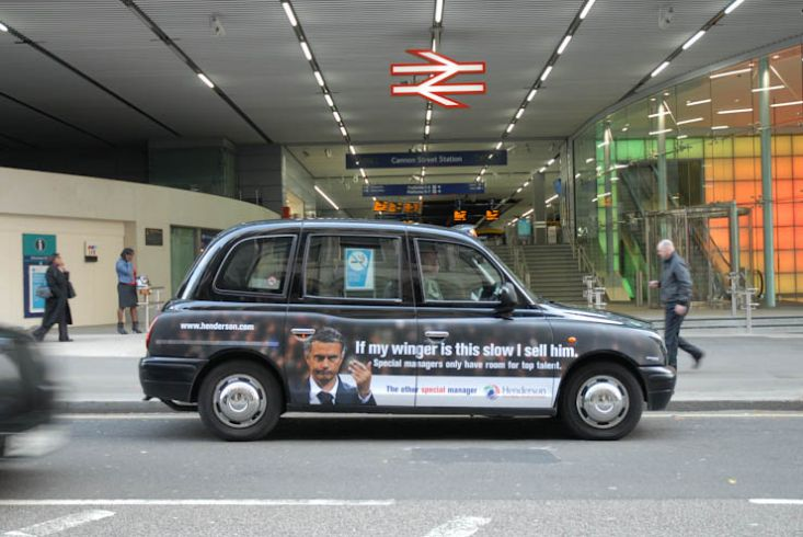 2011 Ubiquitous taxi advertising campaign for Henderson - The Other Special Manager