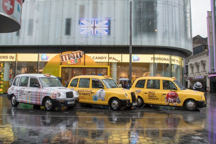 2018 Ubiquitous campaign for M&M's - M&M'S WORLD LEICESTER SQUARE
