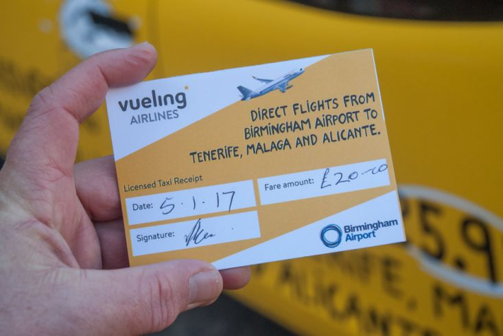2017 Ubiquitous campaign for Vueling Airlines - Fly from £25.99 to Tenerife, Malaga and Alicante