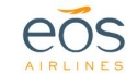 Ubiquitous Taxi Advertising client EOS Airlines  logo