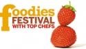 Ubiquitous Taxi Advertising client Foodies Festival   logo