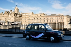2010 Ubiquitous taxi advertising campaign for Hamelin - Black & Red
