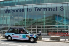 2013 Ubiquitous taxi advertising campaign for Travelex - The Only Card worth Packing