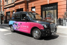 2012 Ubiquitous taxi advertising campaign for Links of London - Official Jewellery Provider of London 2012