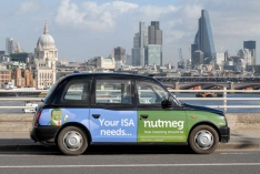 2014 Ubiquitous taxi advertising campaign for Nutmeg - Your ISA needs Nutmeg