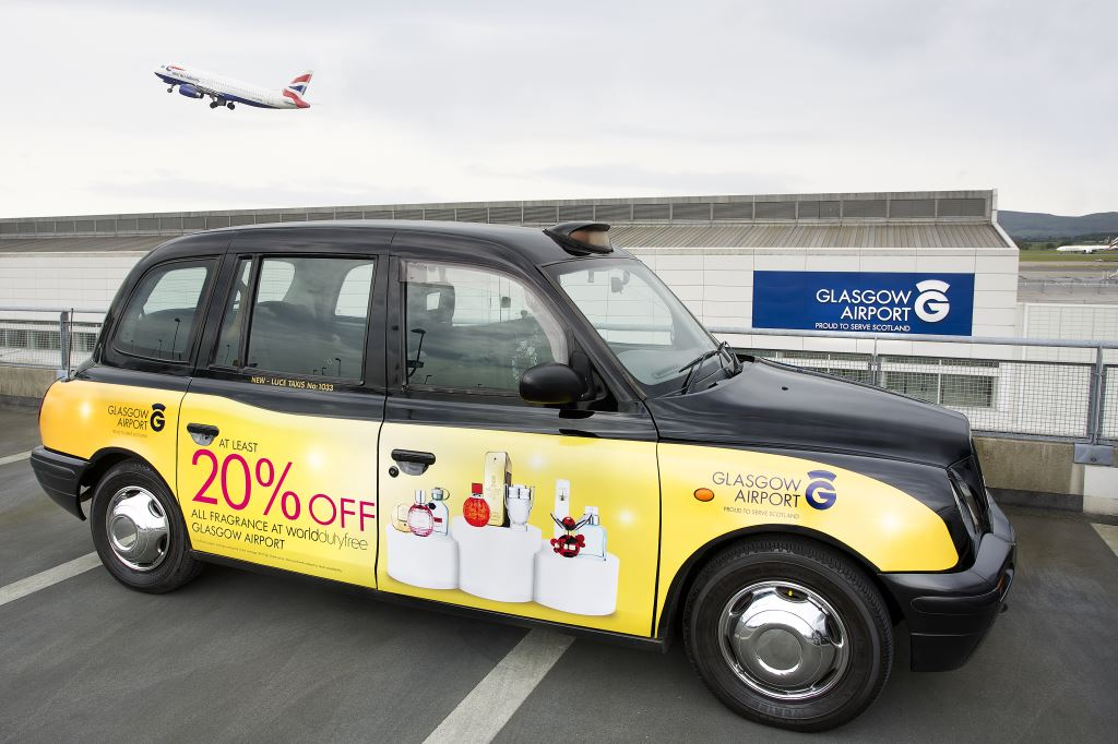 2014 Ubiquitous campaign for Glasgow Airport - At Least 20% Off Fragrance At World Duty Free At Glasgow Airport