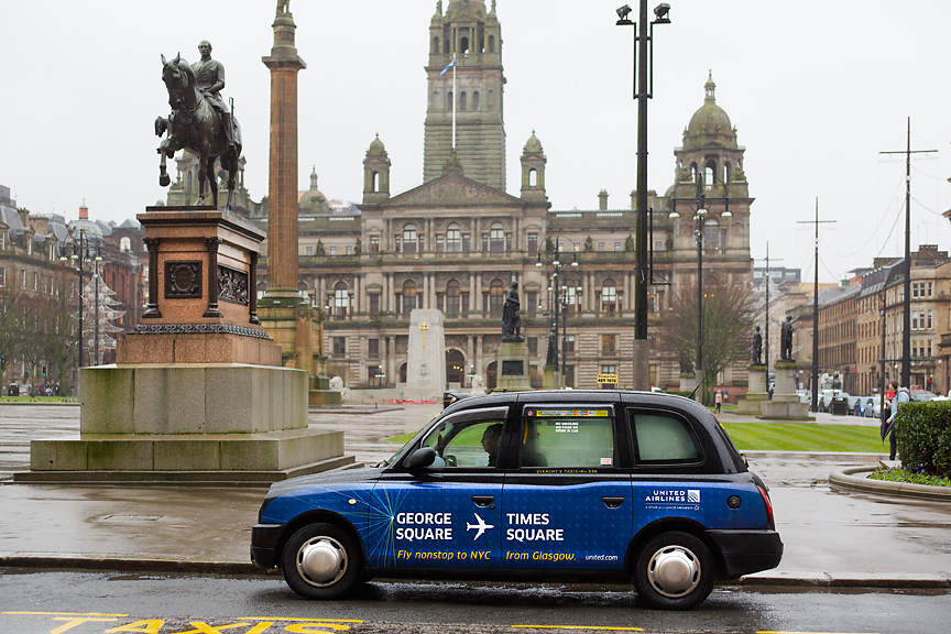 2018 Ubiquitous campaign for Glasgow Airport - United Airlines