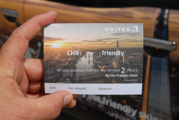2014 Ubiquitous campaign for United Airlines  - LHR Friendly