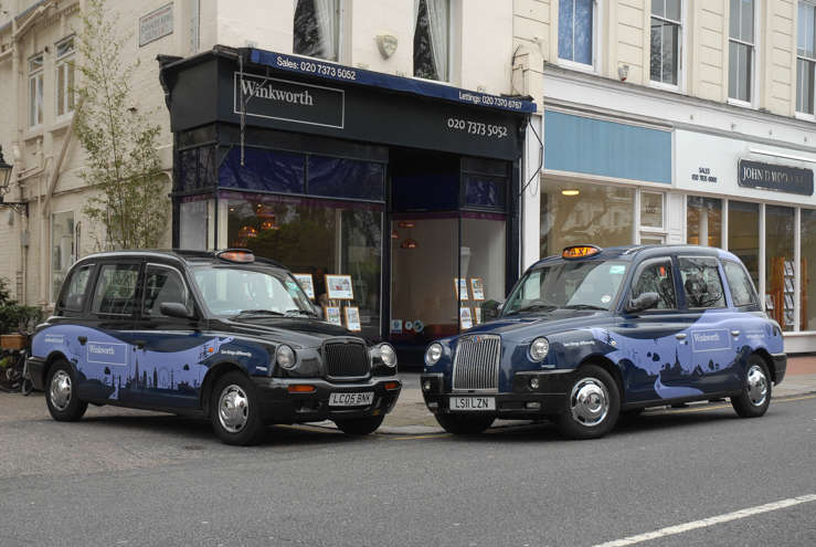 2014 Ubiquitous taxi advertising campaign for Winkworth - See Thing's Differently