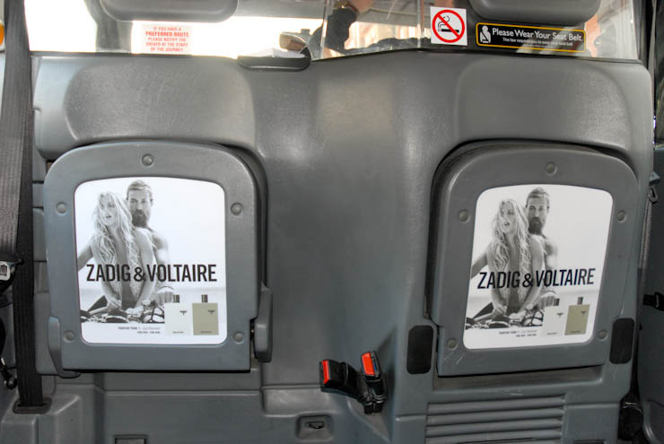 2012 Ubiquitous taxi advertising campaign for Zadig & Voltaire - zadigetvoltaire.com